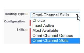 Salesforce omni-channel routing types